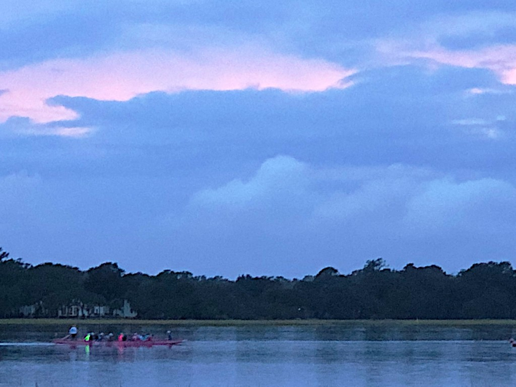 Rowing on the Ashley River at sunset, Charleston, SC by congaree