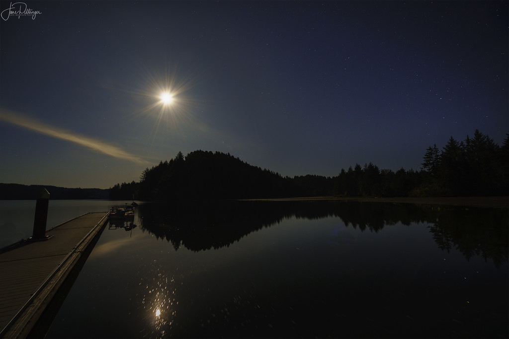 Full Moon At Tahkenitch by jgpittenger