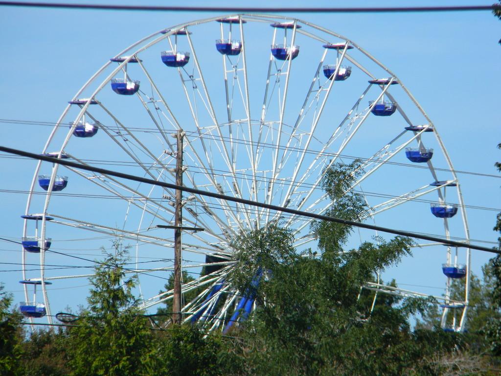 Blue Ferris Wheel  by sfeldphotos