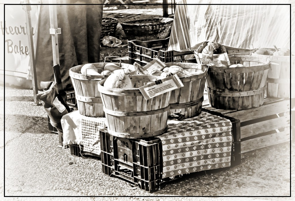 Baskets at the Market by olivetreeann