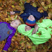 Kids in the leaves