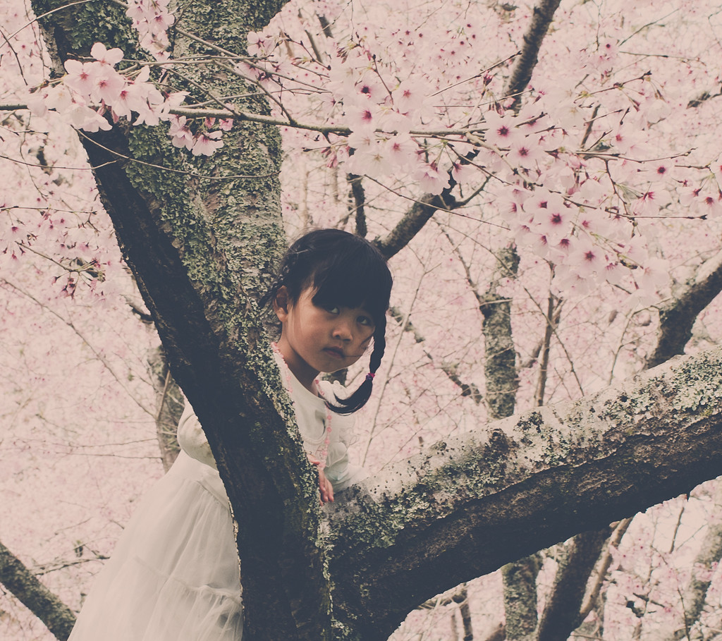 Girl in a tree by brigette