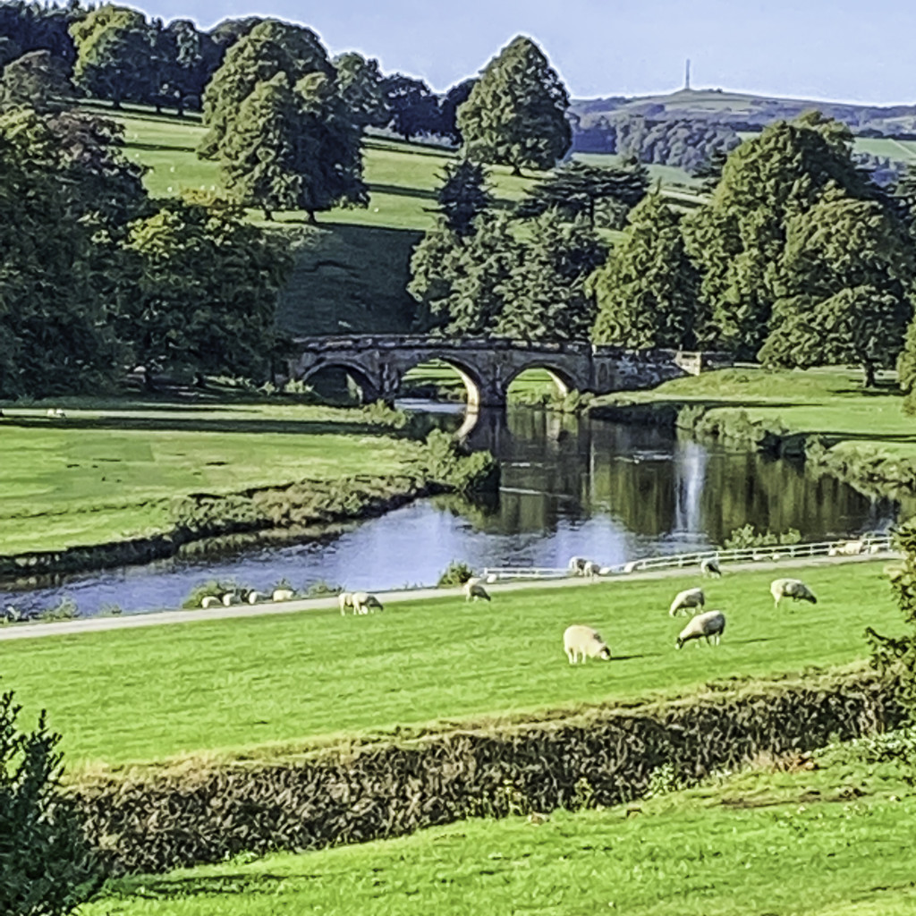 The bridge at Chatsworth by pamknowler