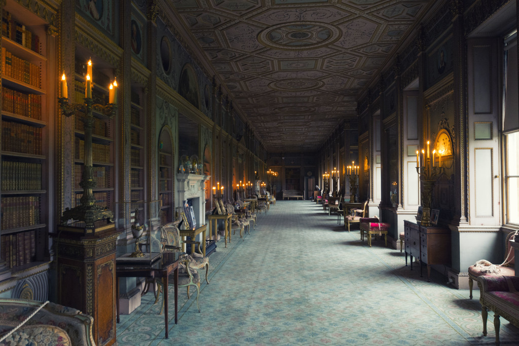 The Long Gallery at Syon House by rumpelstiltskin