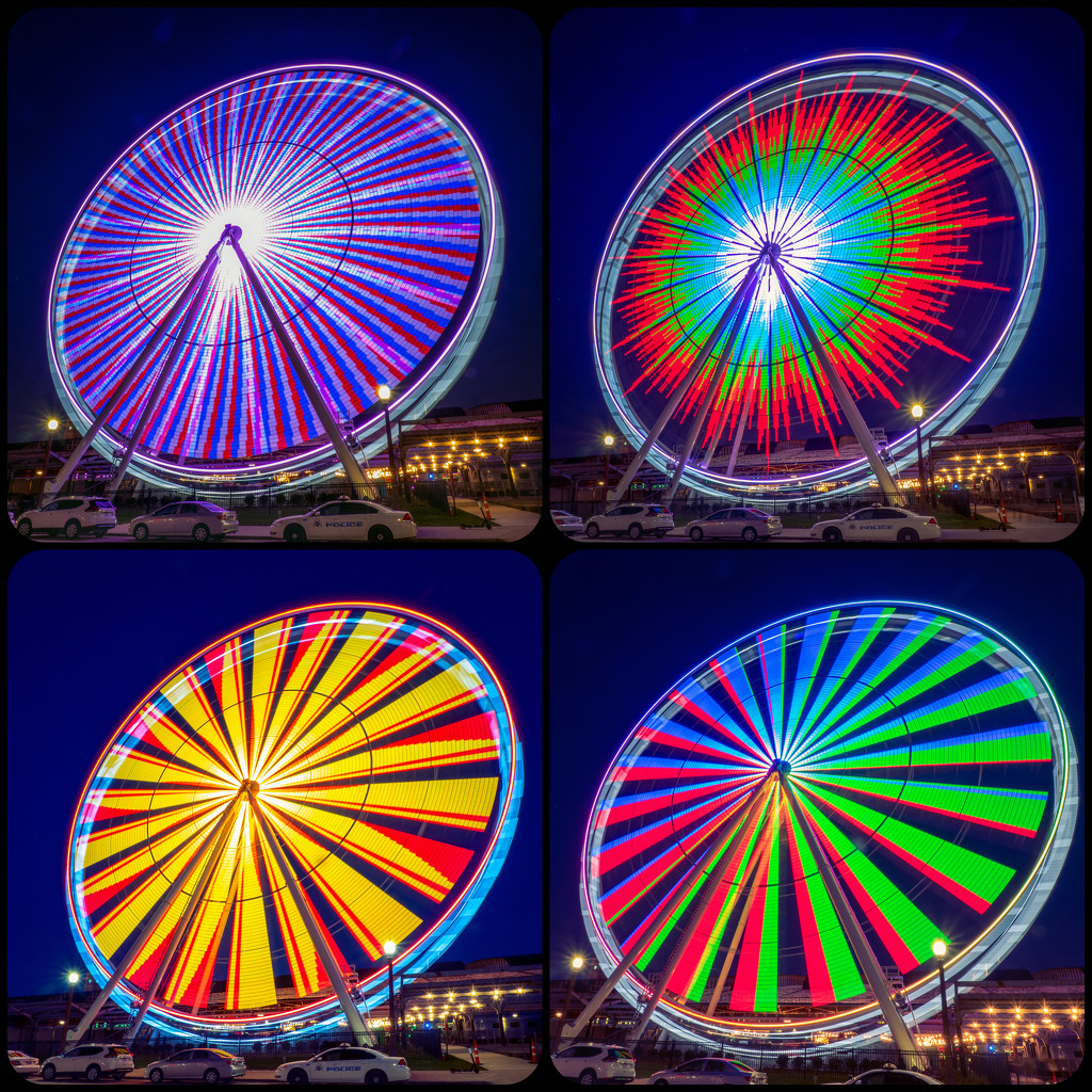 More Spinning Lights by rosiekerr