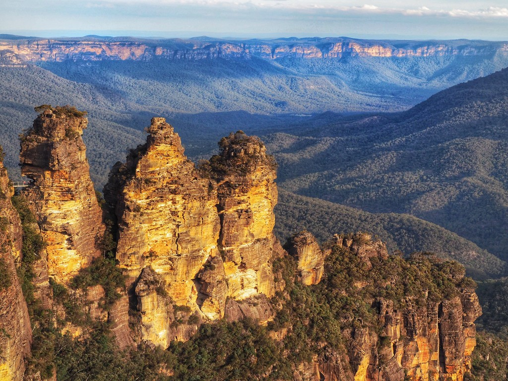 The Three Sisters at golden hour by suesmith