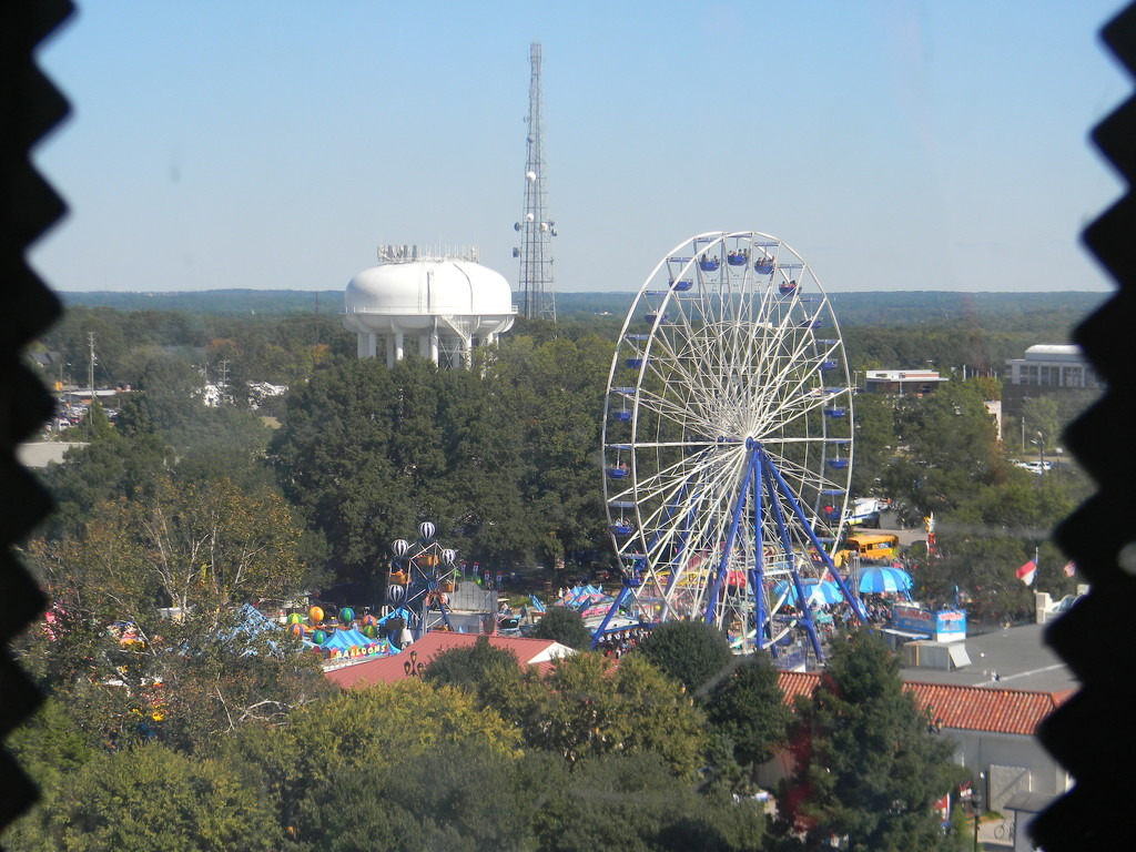 Skyline from SkyGazer Ferris Wheel at State Fair by sfeldphotos
