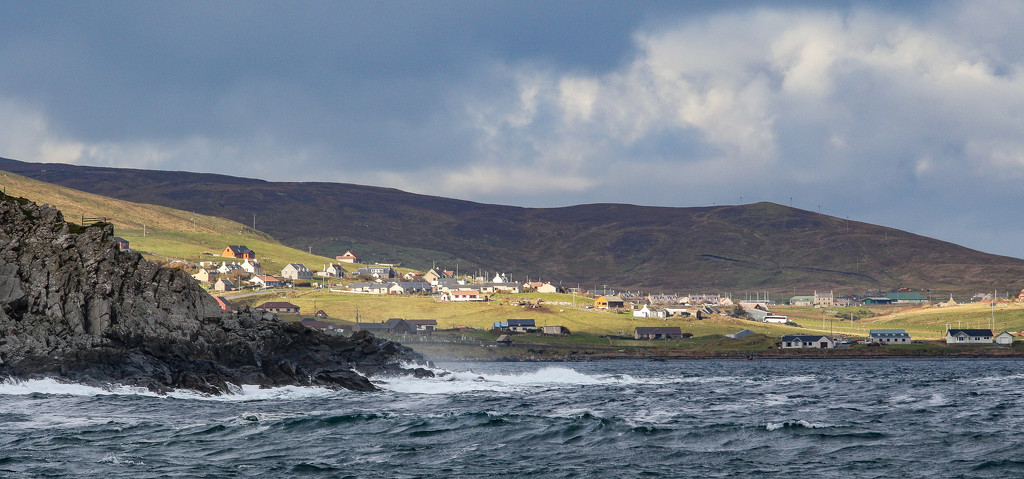 Sun on Cunningsburgh by lifeat60degrees