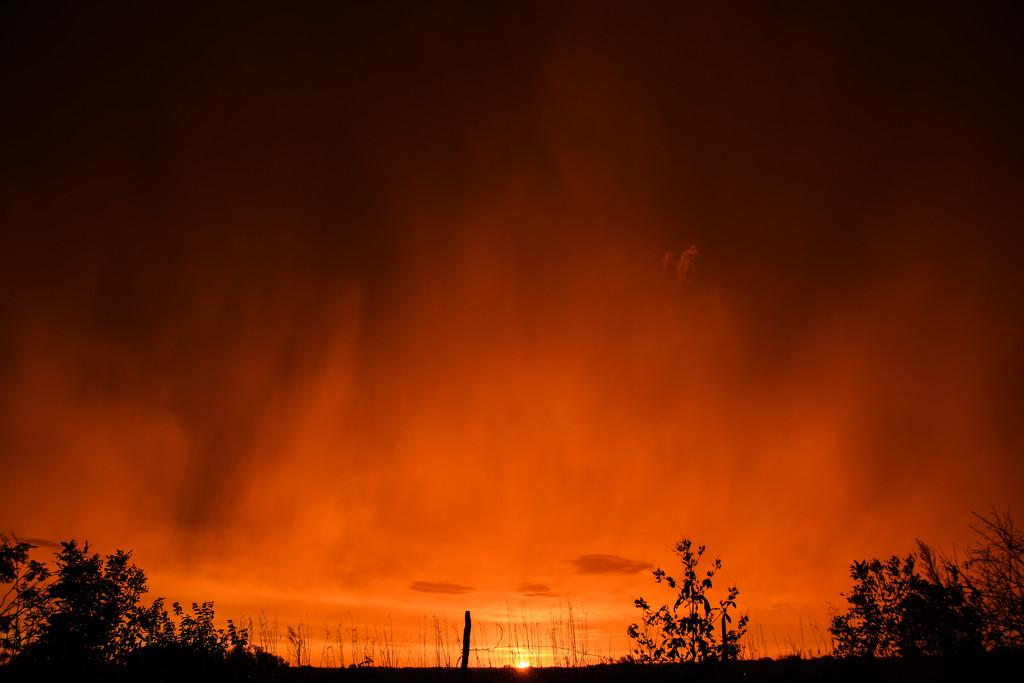 Sunrise and Rainfall by kareenking