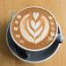 Flower design on my coffee
