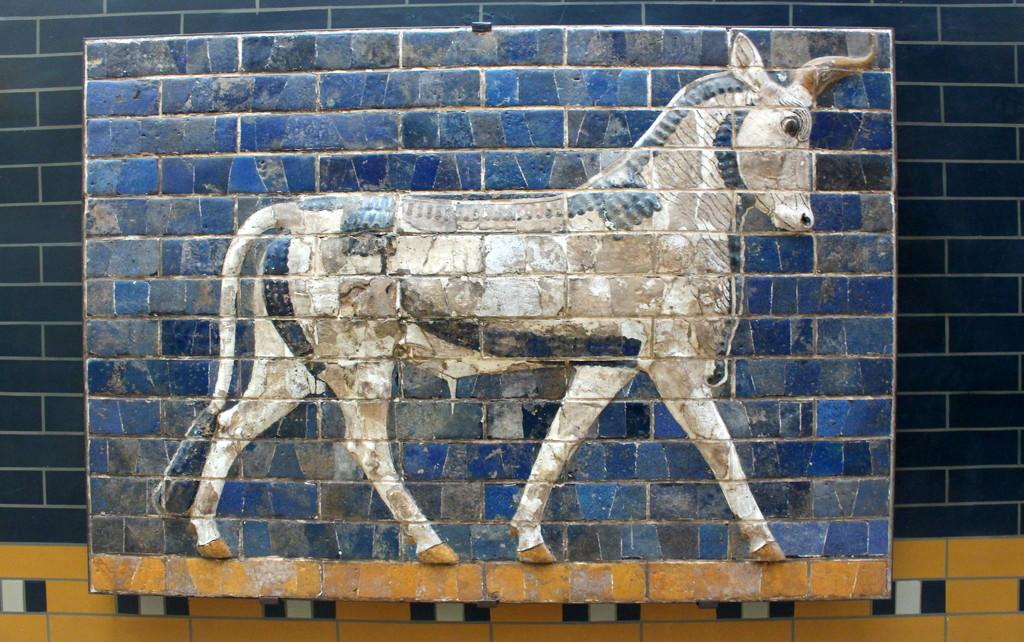 Ishtar Gate glazed brick panel by boxplayer