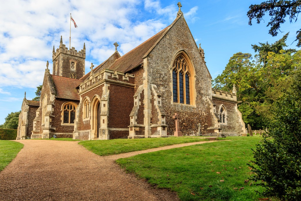 Sandringham Church by padlock