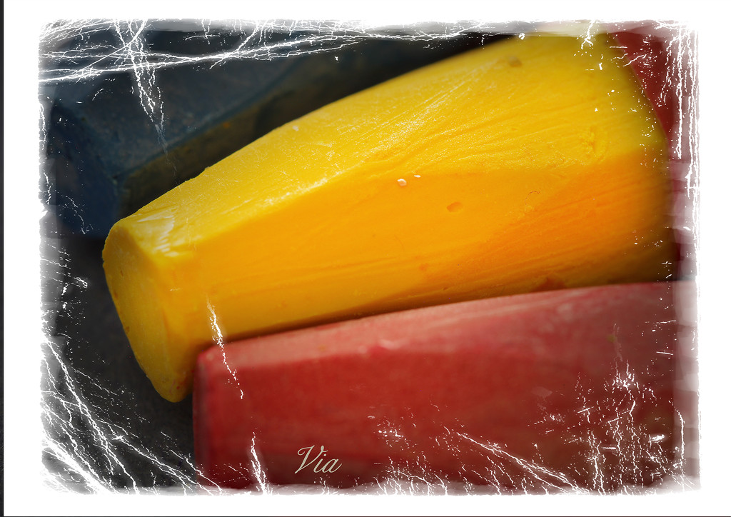 Macro ...  chunky oil pastels.   (Better on black) by sdutoit