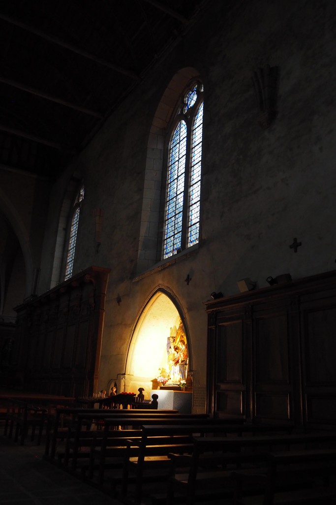 Paimpont Abbey, Lady Altar by s4sayer