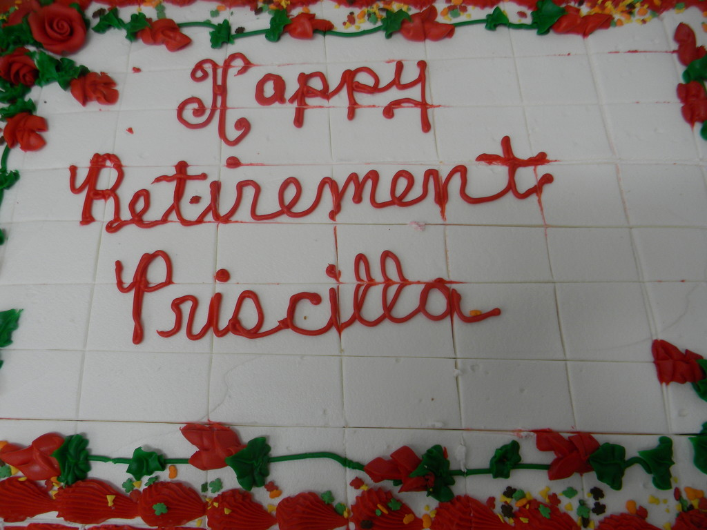 Retirement Cake Closeup by sfeldphotos