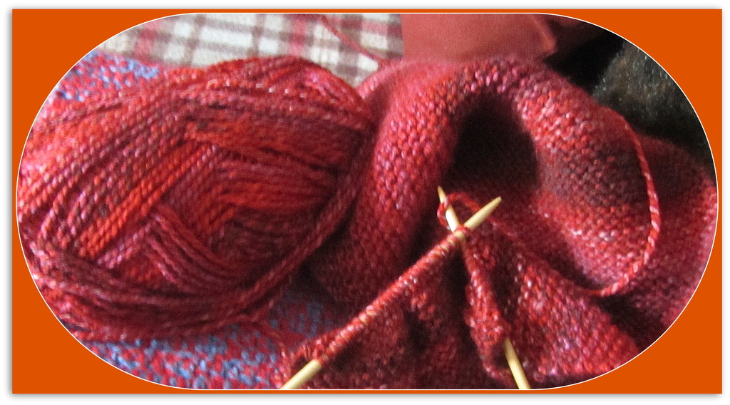 Red shaded knitting. by grace55