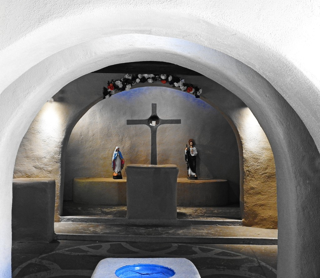 Little Hidden Prayer Chapel in the Center of Albuquerque by janeandcharlie