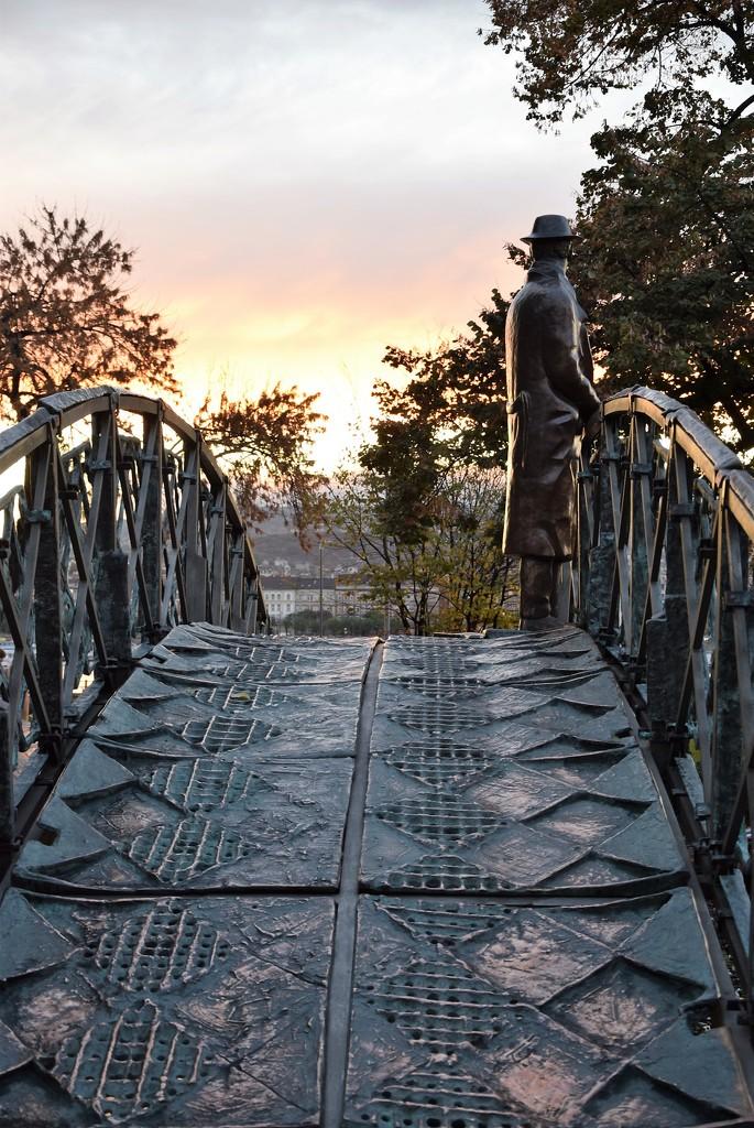Alone on the bridge  by kork