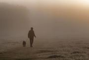 5th Nov 2019 - man and dog in fog
