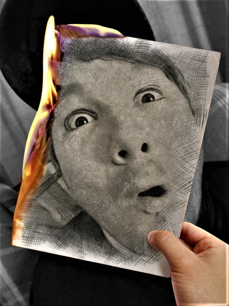 Face on Fire  by ajisaac