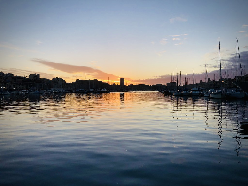 Sunset over Vieux Port by homeschoolmom