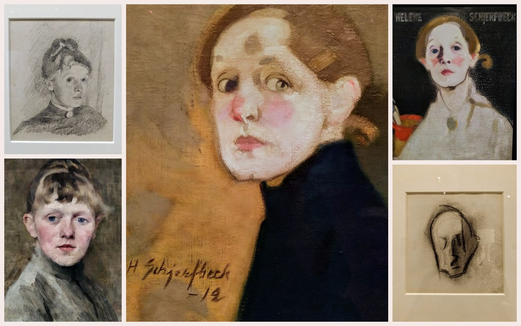 Helene Schjerfbeck selfies by boxplayer