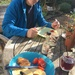 November breakfast in the garden