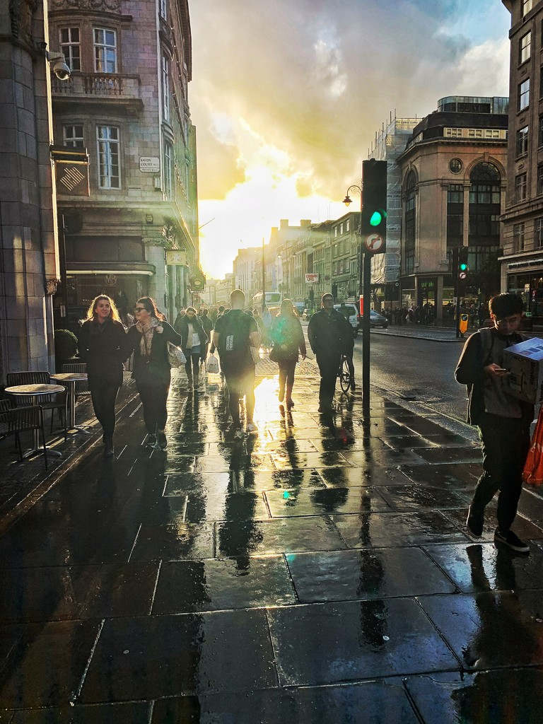 Sunset in London street.  by cocobella