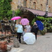 Brolly girls in Hahndorf