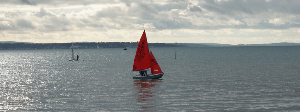 red sail on the Solent by quietpurplehaze