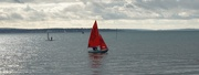 13th Nov 2019 - red sail on the Solent