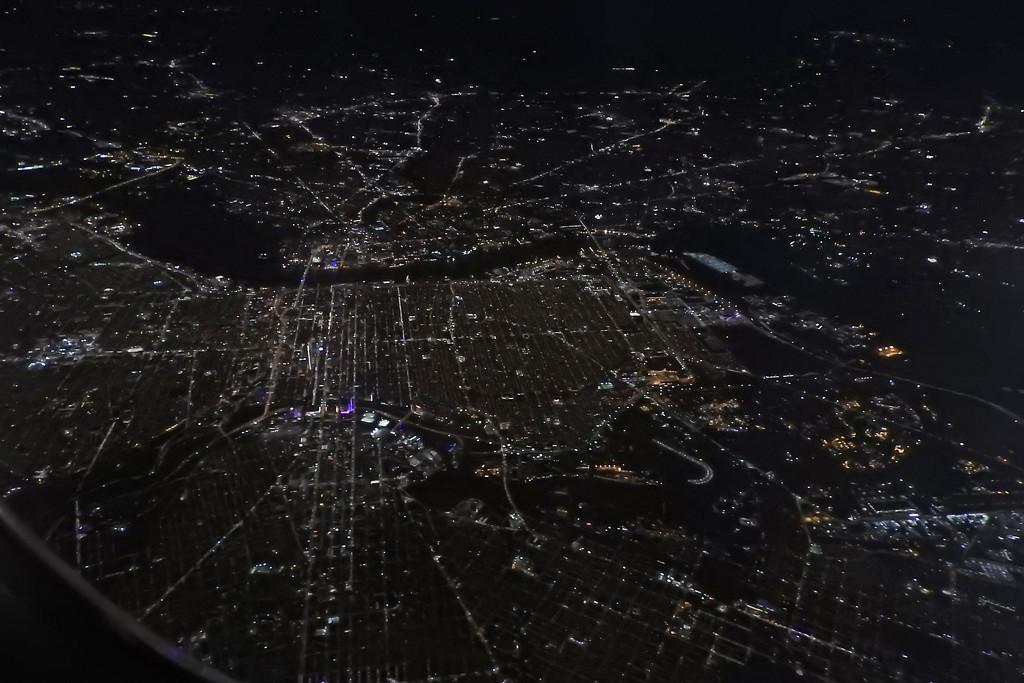 Newark at night by homeschoolmom