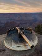 13th Nov 2019 - Loved and well used-A scenic locator near El Tovar Hotel on the Grand Canyon's South Rim helps visitors pick out rock formations such as the Buddha Temple butte