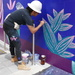 Finishing the mural, Atlanta