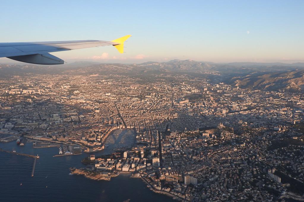 Marseille below us by homeschoolmom