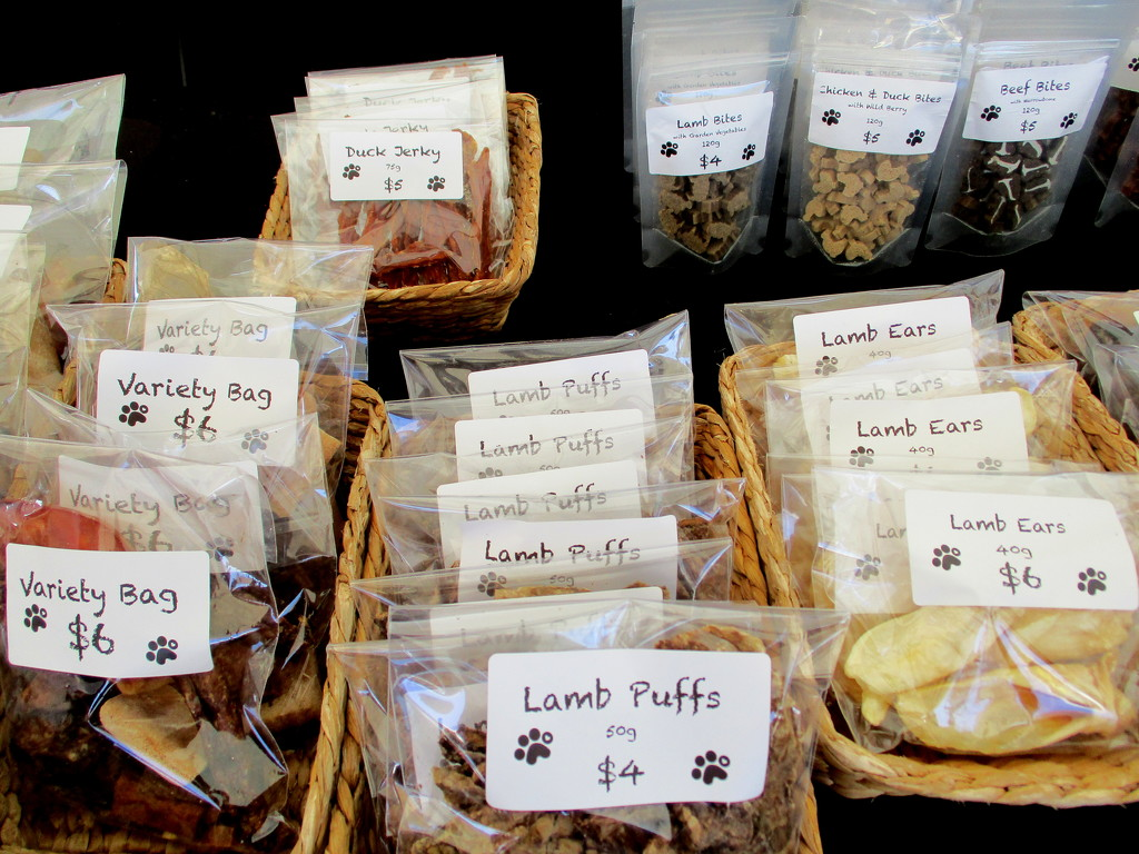 Spoil your dog.  Buy a lamb puff or other tasty bits by 777margo