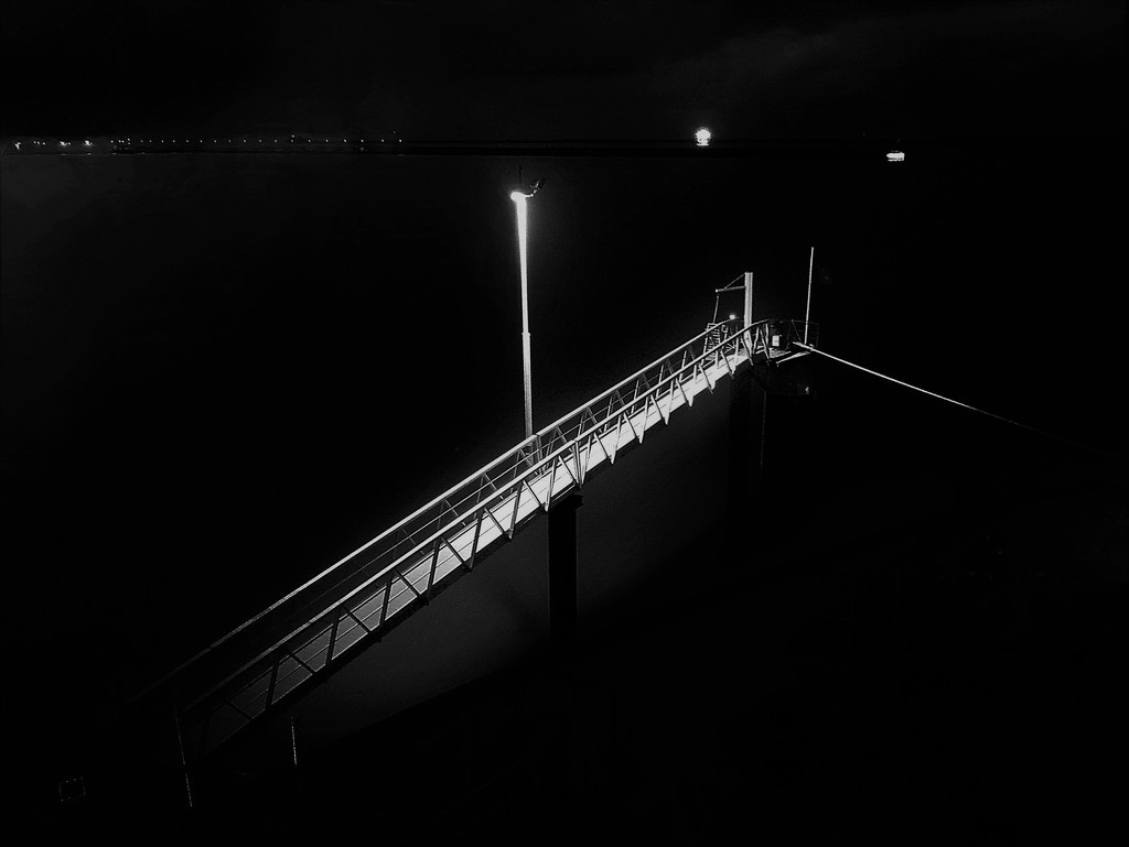 A stairway into the night by etienne