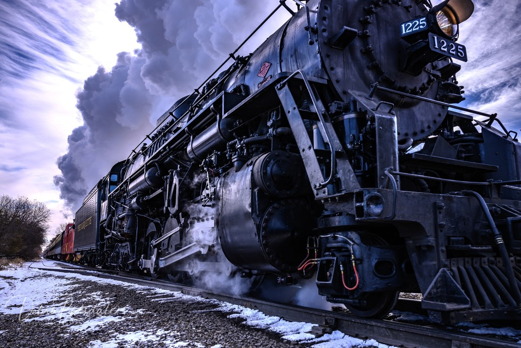 Chasing the Pere Marquette 1225 by dridsdale