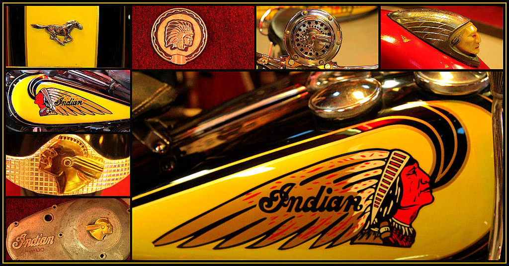 Indian Motorcycle Collage by olivetreeann