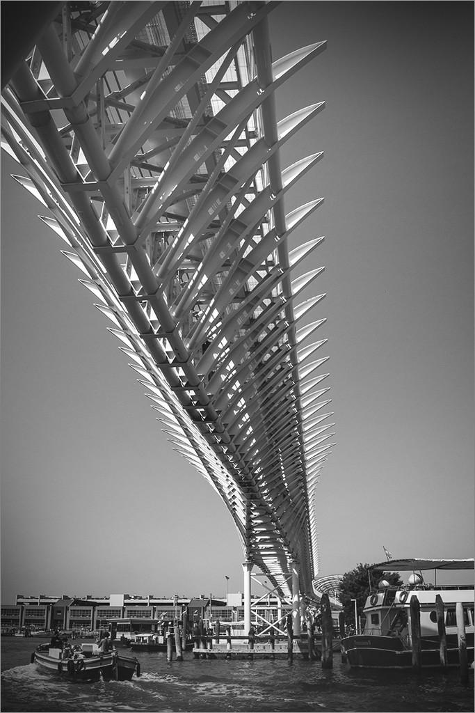 Rail bridge in Venice by mv_wolfie