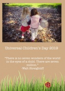 20th Nov 2019 - Universal Children's Day