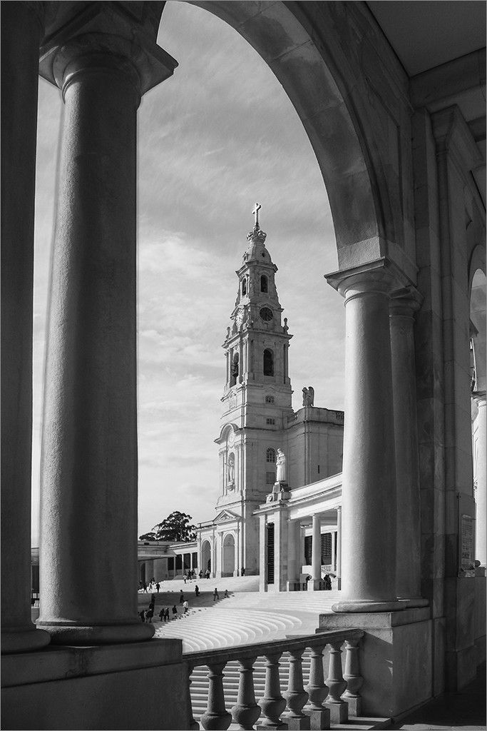 Side view of Fatima Cathedral by mv_wolfie
