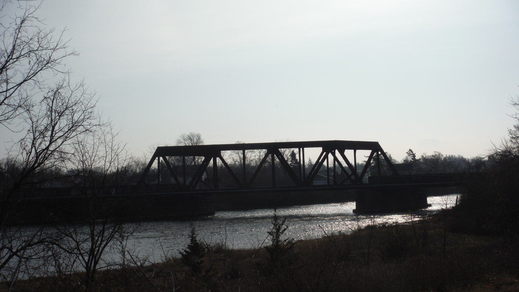 Backlit Railway Bridge by spanishliz