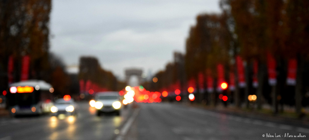 Traffic on the Champs Elysees by parisouailleurs