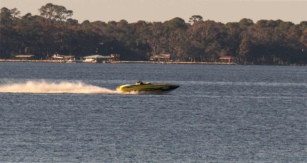 Speed Boat on the River! by rickster549
