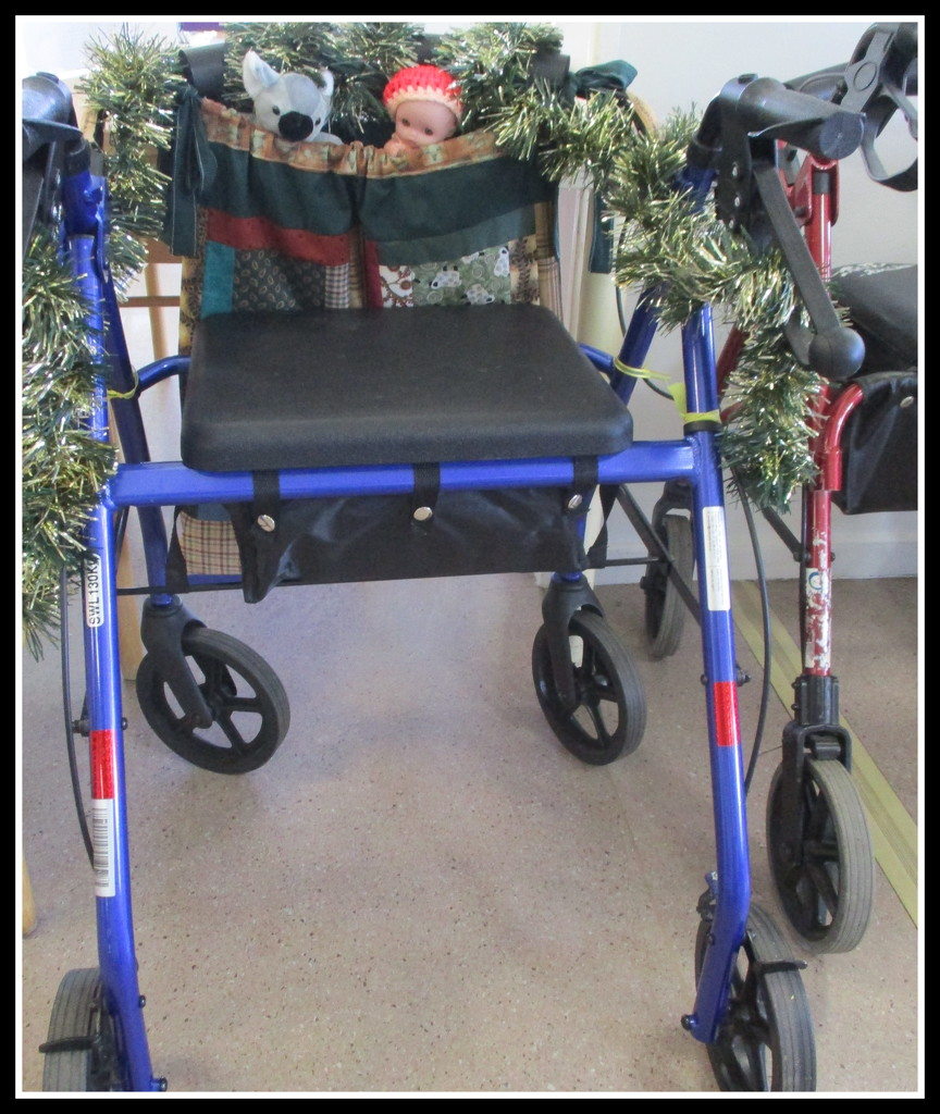 Came across this Wheelie Walker, all decorated up for Christmas by 777margo