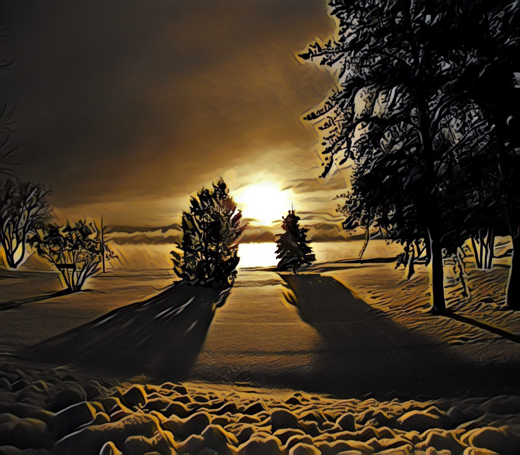 Snow and Shadows by radiogirl