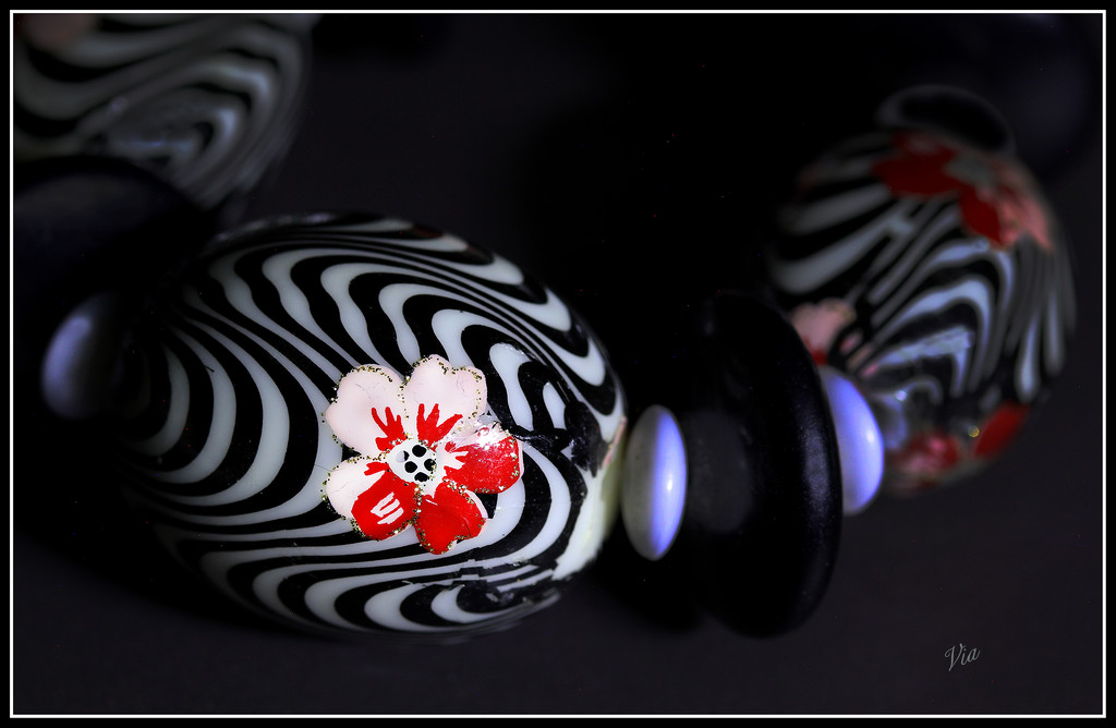 memory...beads..  (watch on black) by sdutoit