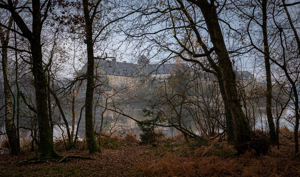 A Glimpse of Paimpont Abbey by vignouse