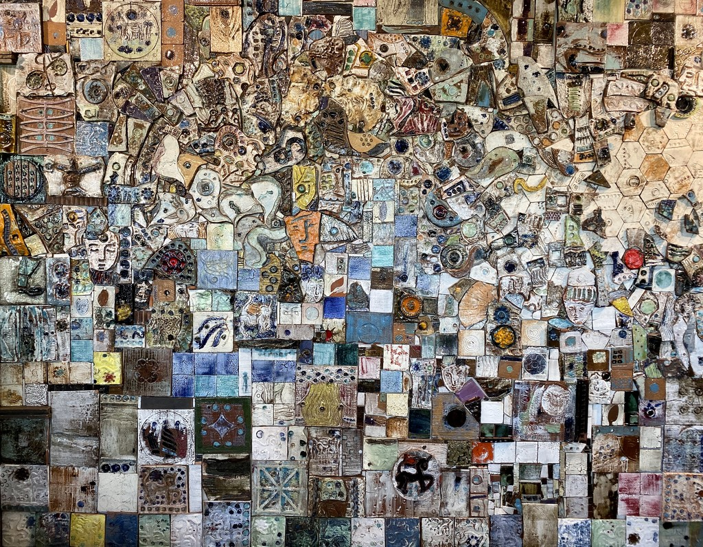 Mosaic Wall by nicolecampbell